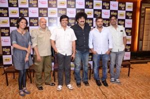 Jury members of Mirchi Music Awards 2013 - (L-R) - Sumana Kittur, V Manohar, S. Narayan, Gurukiran, Kaviraj and manikanth Kadri