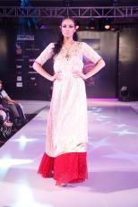 Marcella walking for designer Poonam Vohra