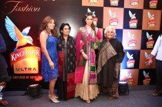 Storm Fashion Company CEO Reet with designers Mona Pali and actress Raai Laxmi