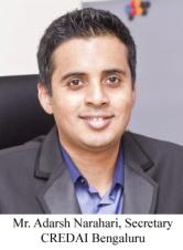 Mr. Adarsh Narahari - Secretary CREDAI Bengaluru