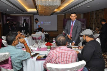 Senior Development Chef Syed Sirajudeen of Qatar Airways interacts with media for Qatar Airways Business Class Experience