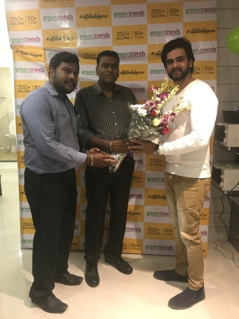 From LtoR- Mr. Hariraman, Cluster Manager, Mr. Sanjeev – Area Manager and Chandan, Actor